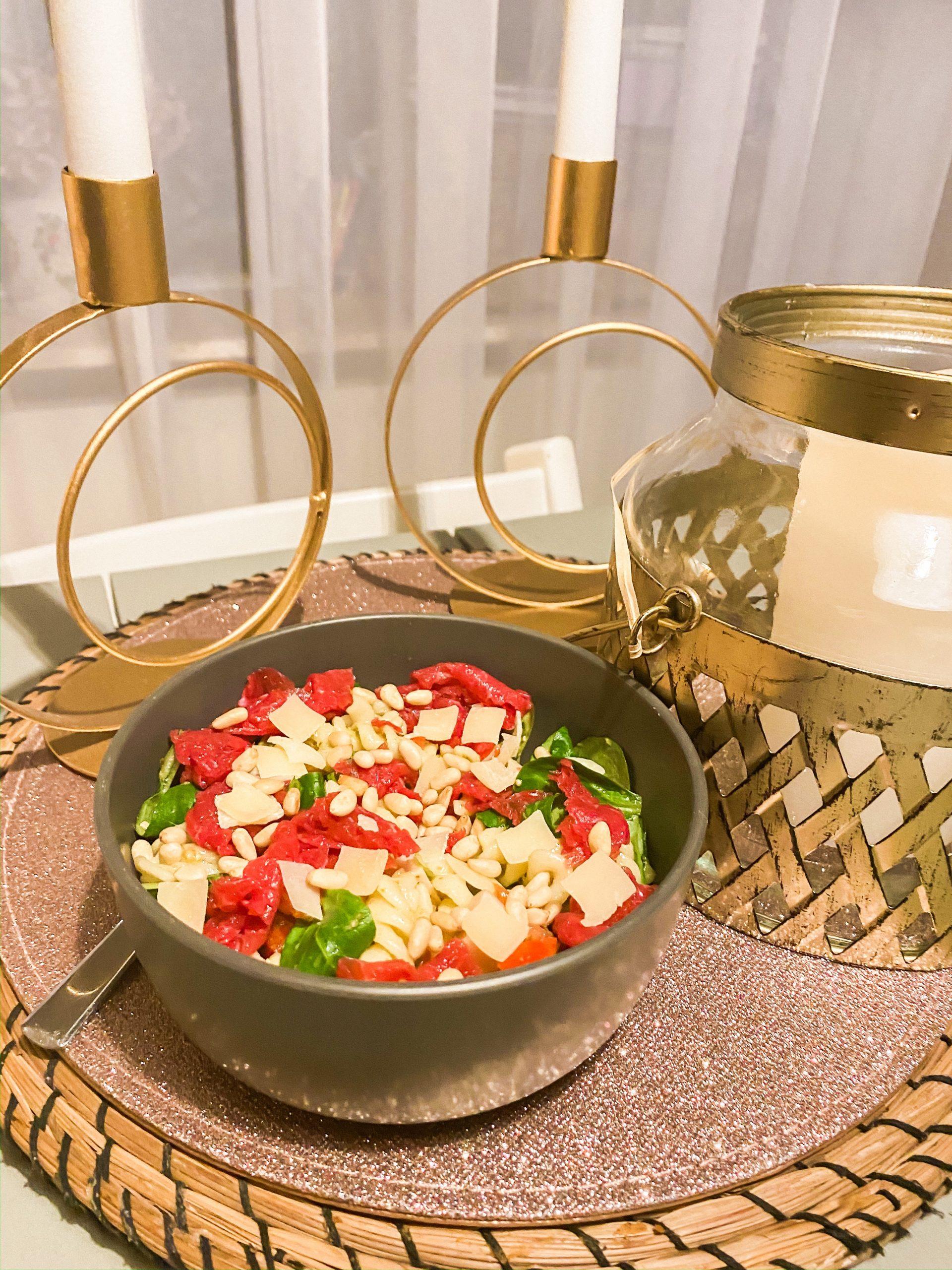 Pasta salade carpaccio