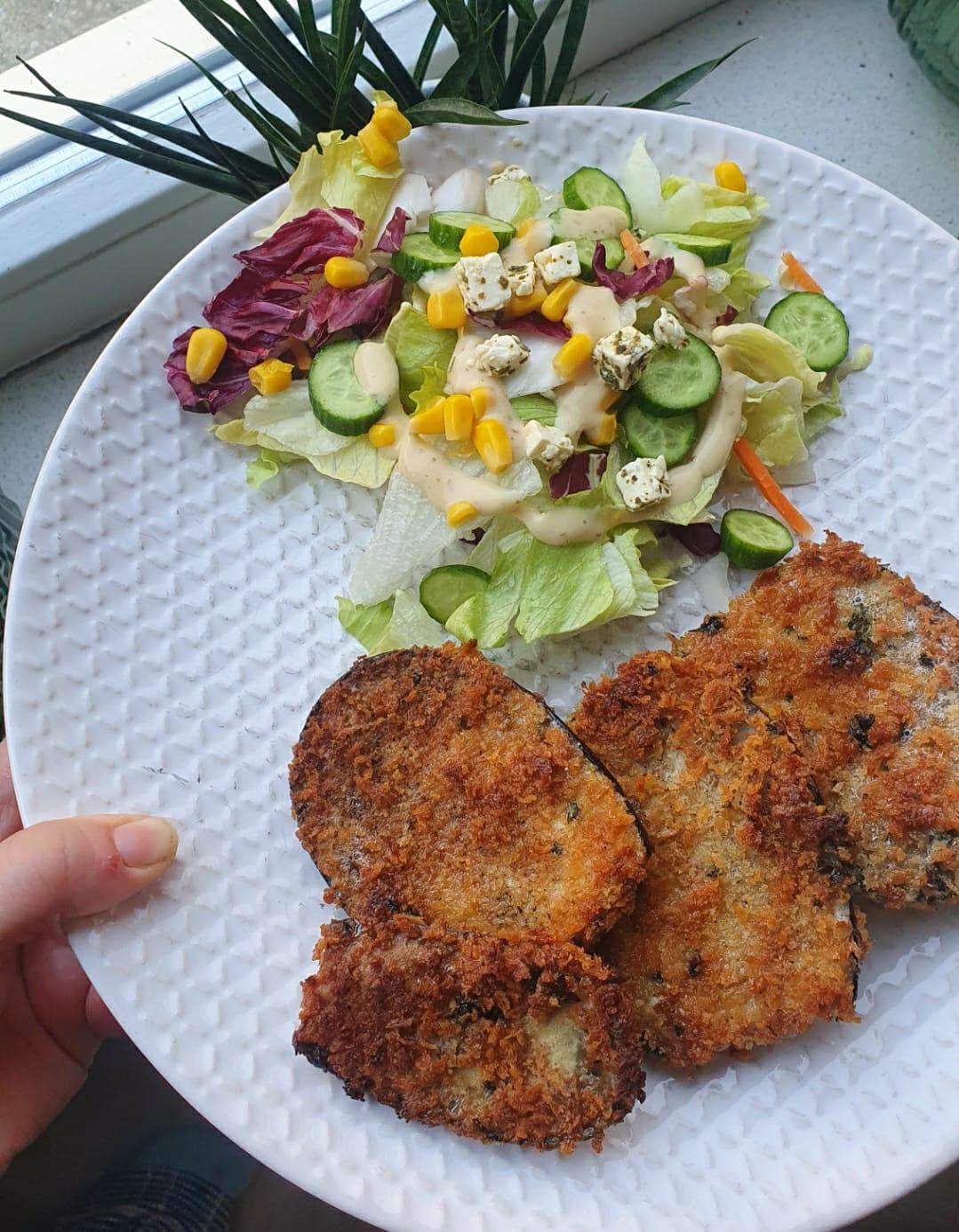 Aubergine schnitzel | Recept van Milou