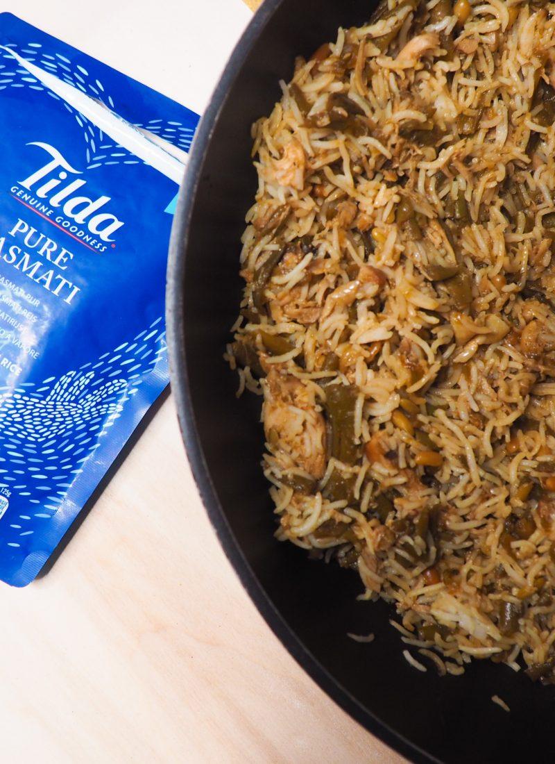 Honing knoflook kip met Tilda rijst